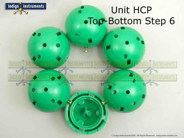 HCP Crystal Lattice Structure Top Bottom Step 6