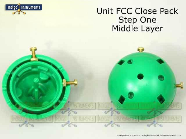 FCC Crystal Lattice Structure Middle Step 1