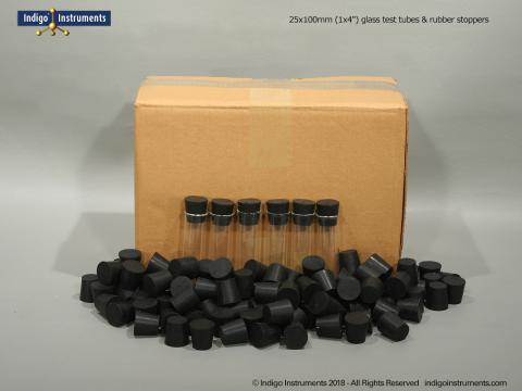 "100 Stoppers + 1x4"" Test Tubes"