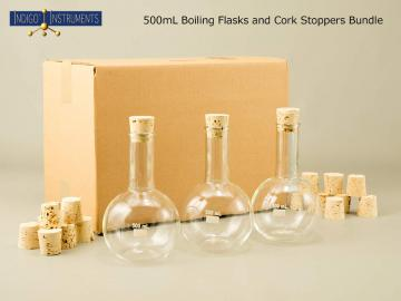 6 500ml Boiling Flasks/Corks